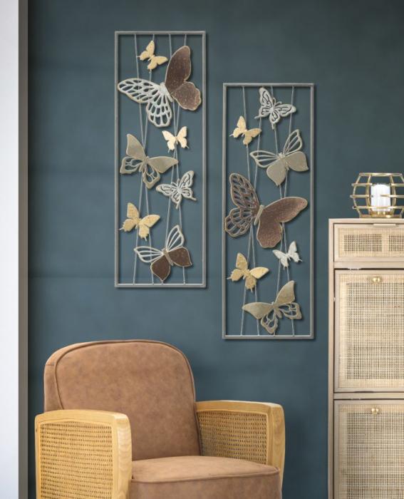 Decoratiune de perete BUTTERFLY SMART -A- (cm) 31X4X89,5 0