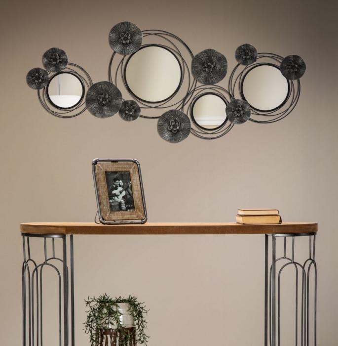 Decoratiune de perete cu oglinda DARK (cm) 117X5,5X49 6