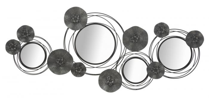 Decoratiune de perete cu oglinda DARK (cm) 117X5,5X49 0