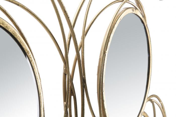 Decoratiune de perete cu oglinda ROUND (cm) 124,5X4X53,5 3