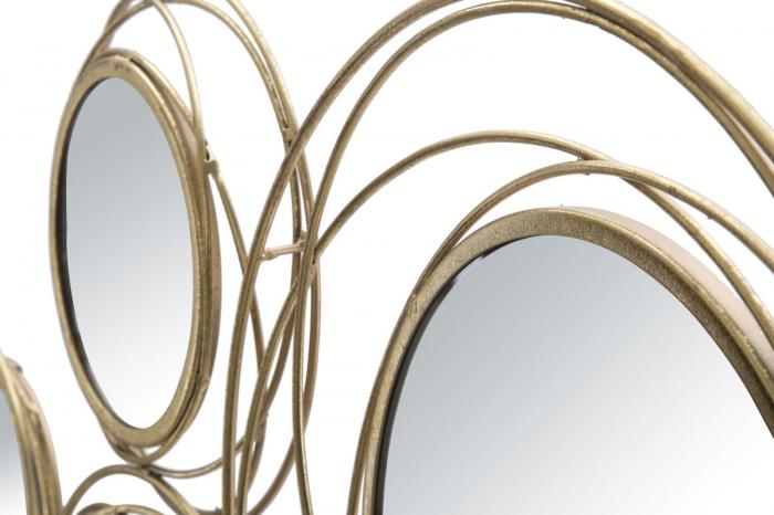 Decoratiune de perete cu oglinda ROUND (cm) 124,5X4X53,5 4