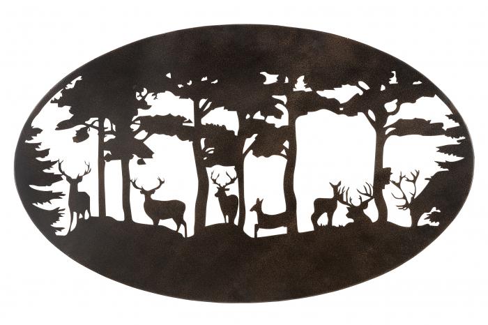 Decoratiune de perete DEER, metal, 90x55 cm 1