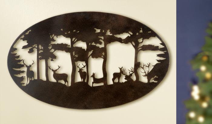 Decoratiune de perete DEER, metal, 90x55 cm 0