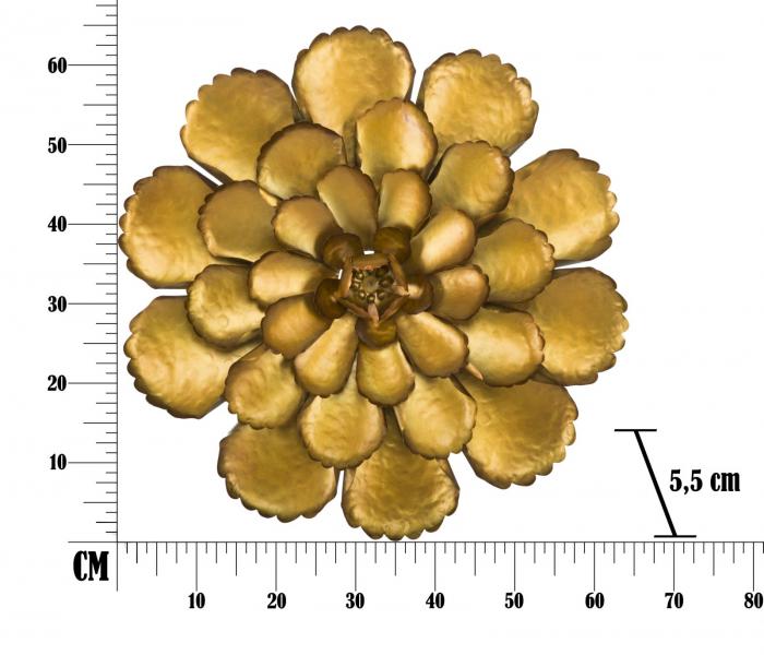 Decoratiune de perete  FIORE GOLDY -A- (cm) Ø 64X5,5 8