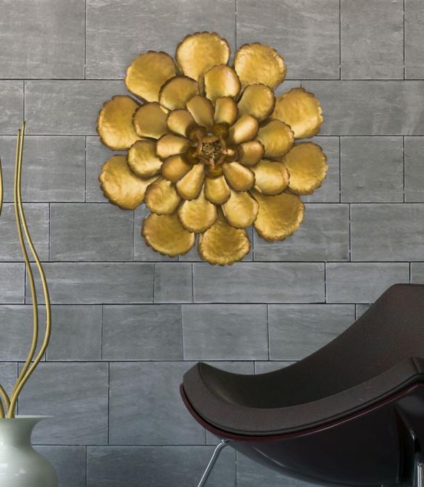 Decoratiune de perete  FIORE GOLDY -A- (cm) Ø 64X5,5 7