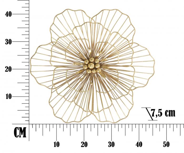 Decoratiune de perete FLOWER STICK (cm) 45X7,5X42 6