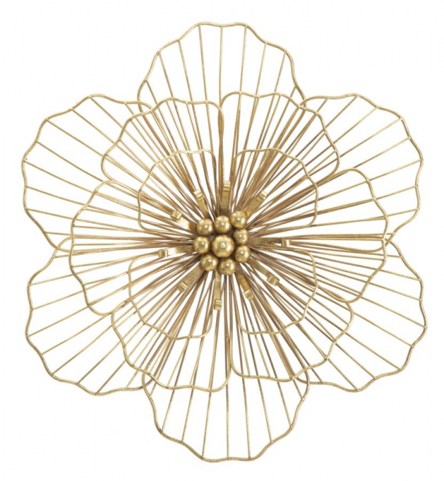 Decoratiune de perete FLOWER STICK (cm) 45X7,5X42 2021 lotusland.ro