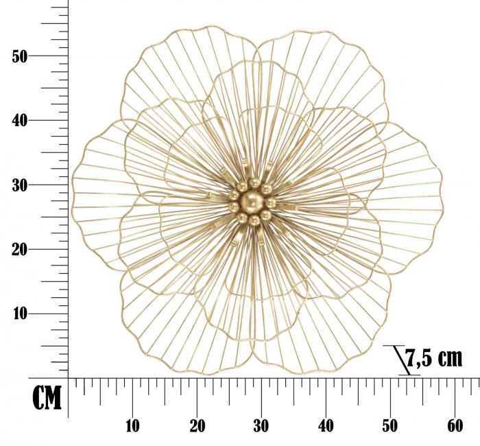 Decoratiune de perete FLOWER STICK (cm) 58,5X7,5X55 6