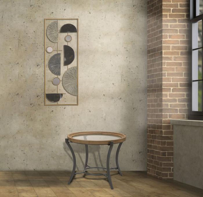 Decoratiune de perete GEOMETRIC (cm) 28,5X2,5X74 5