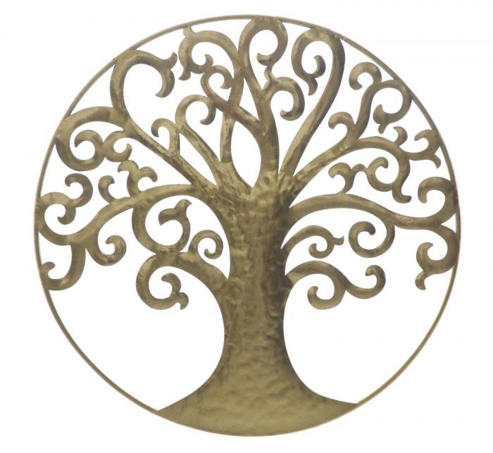 Decoratiune de perete LIFE TREE GOLD GLAM (cm) Ø 70X1,8 0