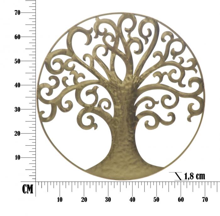 Decoratiune de perete LIFE TREE GOLD GLAM (cm) Ø 70X1,8 6