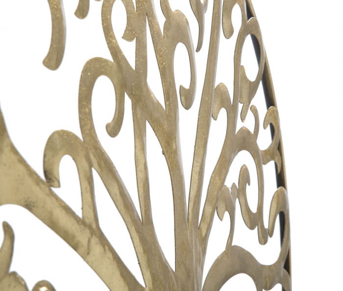 Decoratiune de perete LIFE TREE GOLD GLAM (cm) Ø 70X1,8 1