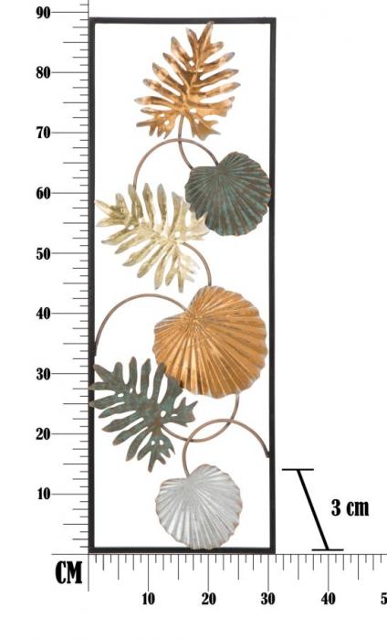 Decoratiune de perete  LOPPY -A- (cm) 30,5X3X88,5 6