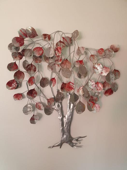Decoratiune de perete LOVE TREE, metal,  80x10x72 cm 5