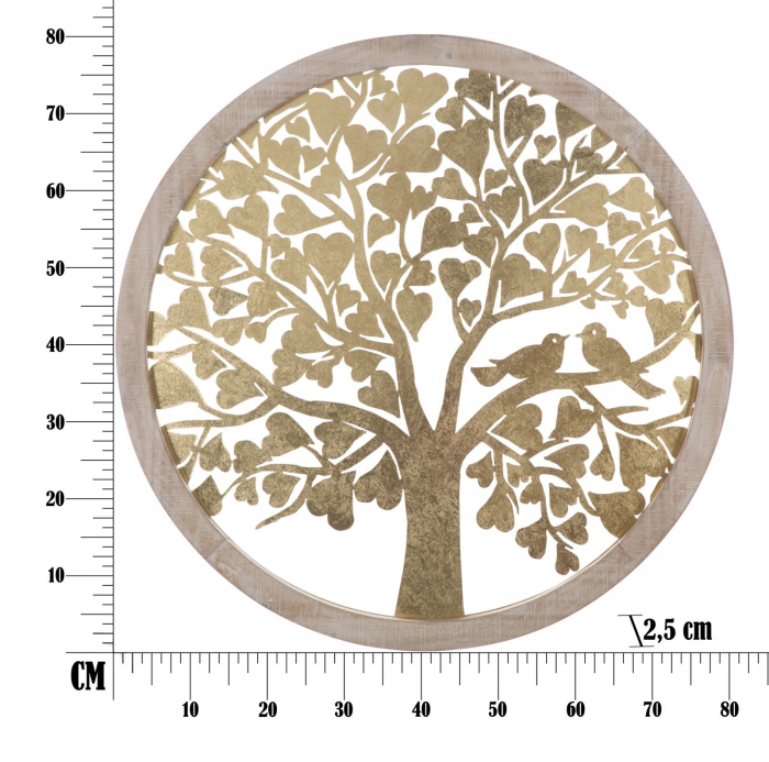 Decoratiune de perete TREE  (cm) Ø 80X2,5 6