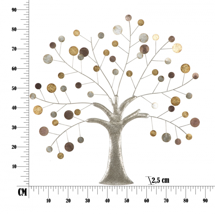 Decoratiune de perete TREE (cm) 88X2,5X88 6