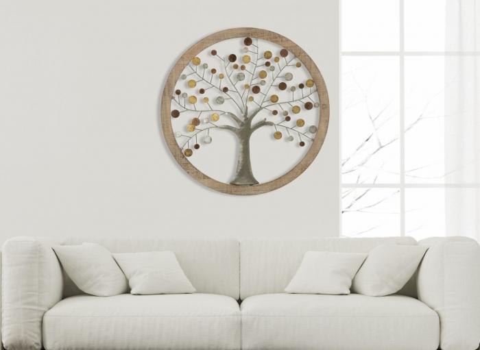 Decoratiune de perete TREE OF LIFE (cm) Ø 80X2 7