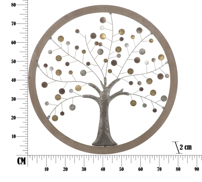Decoratiune de perete TREE OF LIFE (cm) Ø 80X2 8
