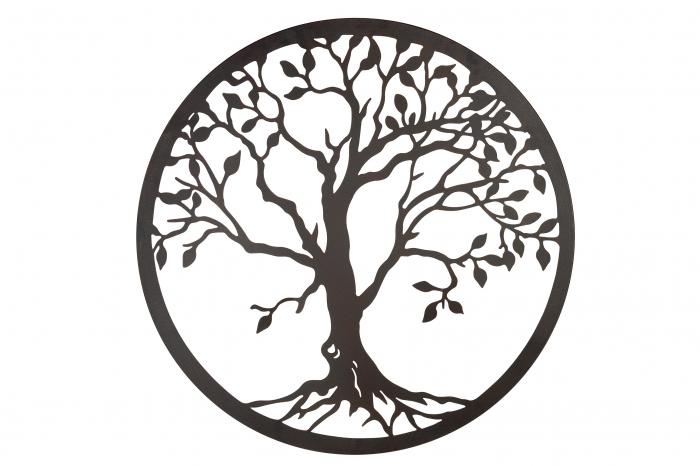Decoratiune de perete TREE OF LIFE, metal, 81 cm 1
