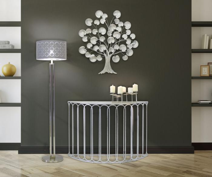 Decoratiune de perete TREE OF LIFE  SILVER (cm) 87,5X3,5X93 8