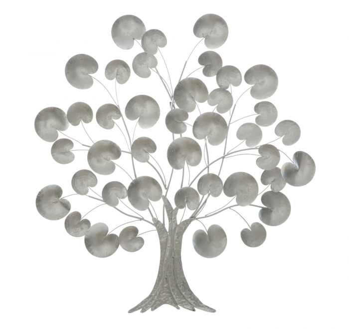 Decoratiune de perete TREE OF LIFE  SILVER (cm) 87,5X3,5X93 0