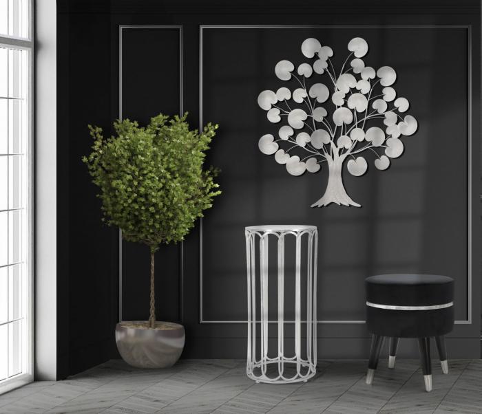 Decoratiune de perete TREE OF LIFE  SILVER (cm) 87,5X3,5X93 7