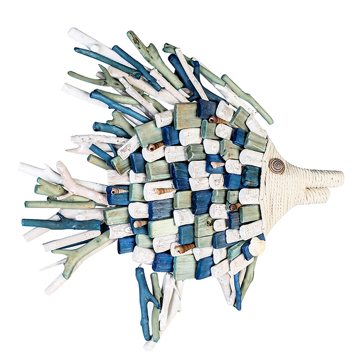 Decoratiune FISH, lemn, 45x50x5 cm 0