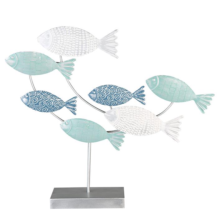 Decoratiune Fish, metal, multicolor, 8.5x55x50 cm 2021 lotusland.ro