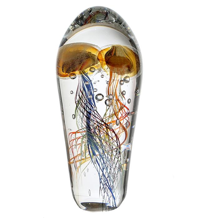 Decoratiune Funny Medusa sticla, multicolor, 25 cm 2021 lotusland.ro