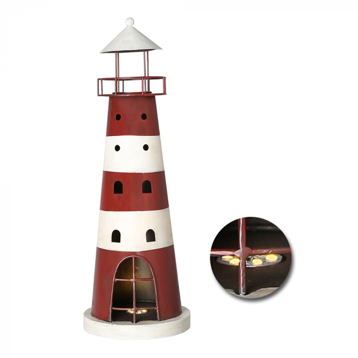 Decoratiune LIGHTHOUSE, metal, 44X15 cm 0
