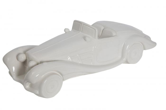 Decoratiune masina, ceramica, alb, 43X16X13 cm 2021 lotusland.ro