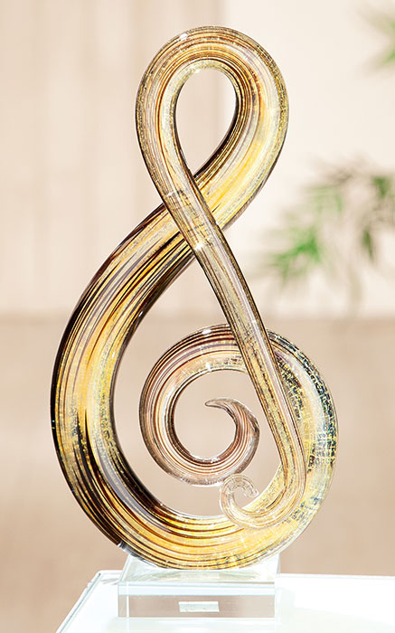 Decoratiune MUSICALE, sticla, 30x14x8 cm 0