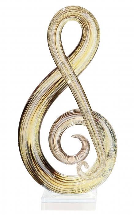 Decoratiune MUSICALE, sticla, 30x14x8 cm 1