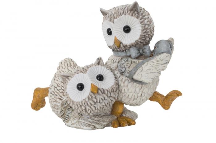Decoratiune OWL KEN COUPLE (cm) 10,5X7X8,5 1