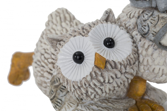 Decoratiune OWL KEN COUPLE (cm) 10,5X7X8,5 3
