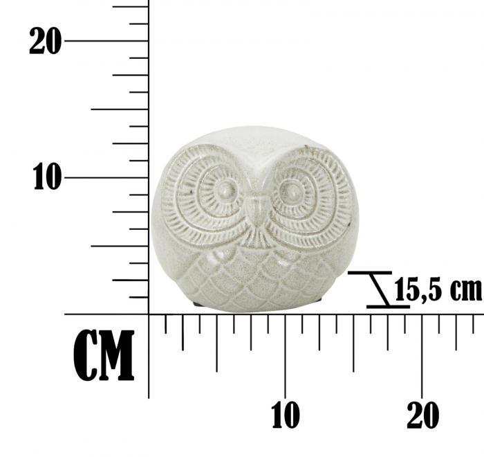 Decoratiune OWL SAND B (cm) Ø 15,5X12,5  6