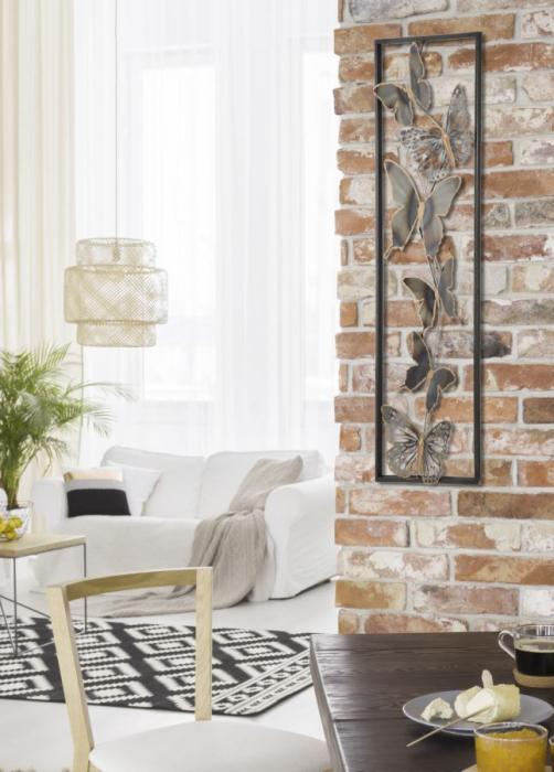 Decoratiune pentru perete BUTTERFLIES, 31X2.5X90 cm, Mauro Ferretti [7]