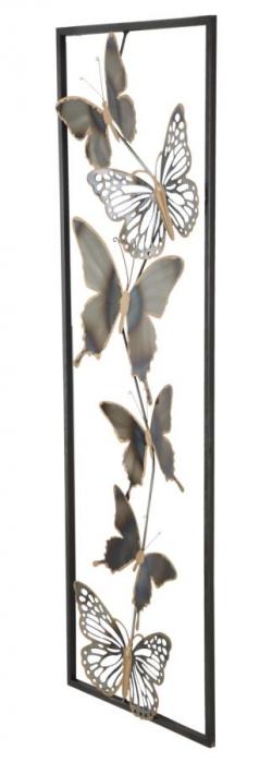 Decoratiune pentru perete BUTTERFLIES, 31X2.5X90 cm, Mauro Ferretti [2]