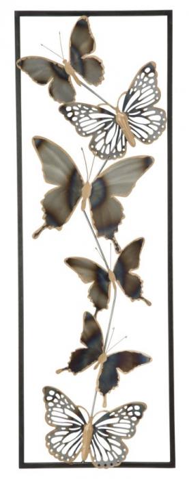 Decoratiune pentru perete BUTTERFLIES, 31X2.5X90 cm, Mauro Ferretti [0]