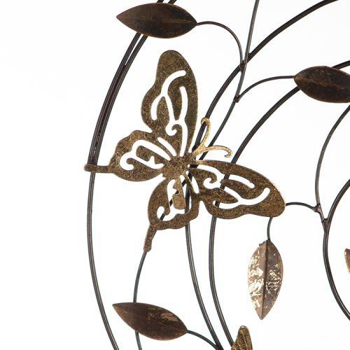 Decoratiune pentru perete Farfalle, gri/maro/ auriu, 50 cm 2