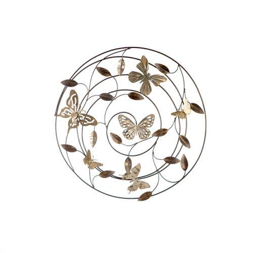 Decoratiune pentru perete Farfalle, gri/maro/ auriu, 50 cm 0