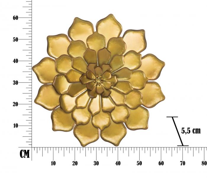 Decoratiune pentru perete FIORE GOLDY, 62.5X5.5 cm, Mauro Ferretti 7