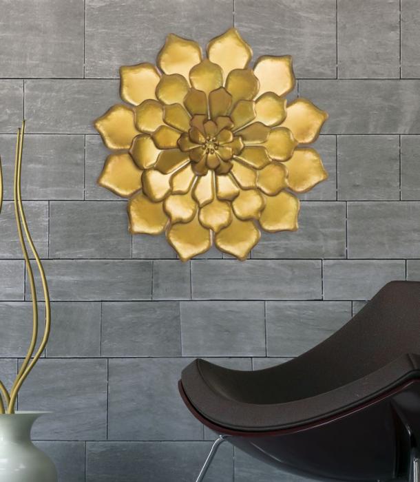 Decoratiune pentru perete FIORE GOLDY, 62.5X5.5 cm, Mauro Ferretti 6