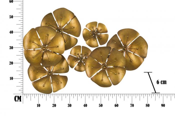Decoratiune pentru perete FLOWER GOLDY, 80X6X57 cm, Mauro Ferretti 7