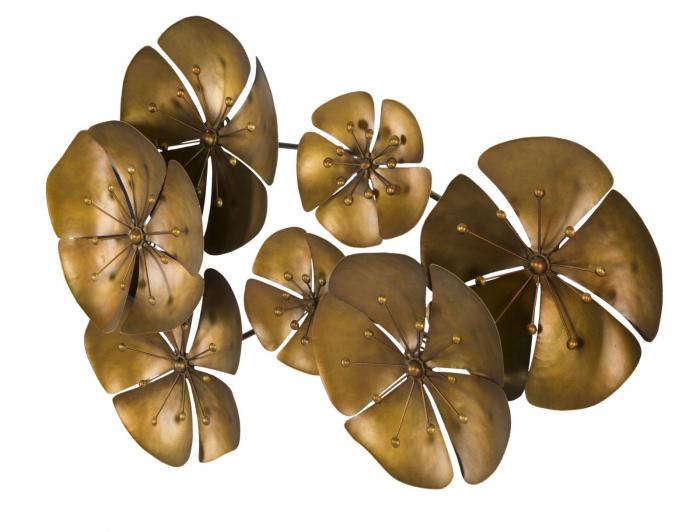 Decoratiune pentru perete FLOWER GOLDY, 80X6X57 cm, Mauro Ferretti 5