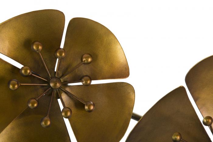 Decoratiune pentru perete FLOWER GOLDY, 80X6X57 cm, Mauro Ferretti 3