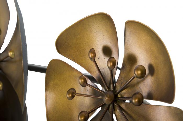 Decoratiune pentru perete FLOWER GOLDY, 80X6X57 cm, Mauro Ferretti 2