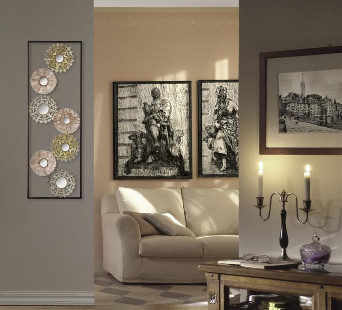 Decoratiune pentru perete GLISS, 31X2.5X90 cm, Mauro Ferretti 6