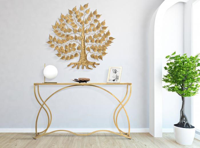 Decoratiune pentru perete GOXY GOLD CM 90X2,5X90, Mauro Ferretti [0]