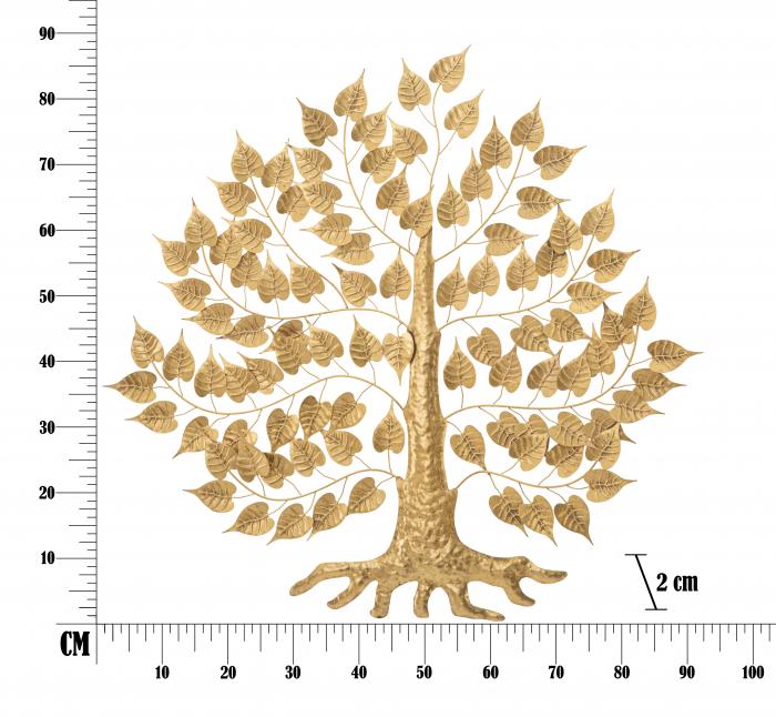 Decoratiune pentru perete GOXY GOLD CM 90X2,5X90, Mauro Ferretti [5]